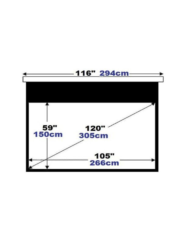 crystal vision 120 u0026quot  16 9 motorized projector screen