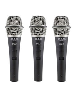 CAD D32X3 Supercardioid Dynamic Vocal Microphone